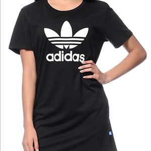 Adidas black t shirt dress